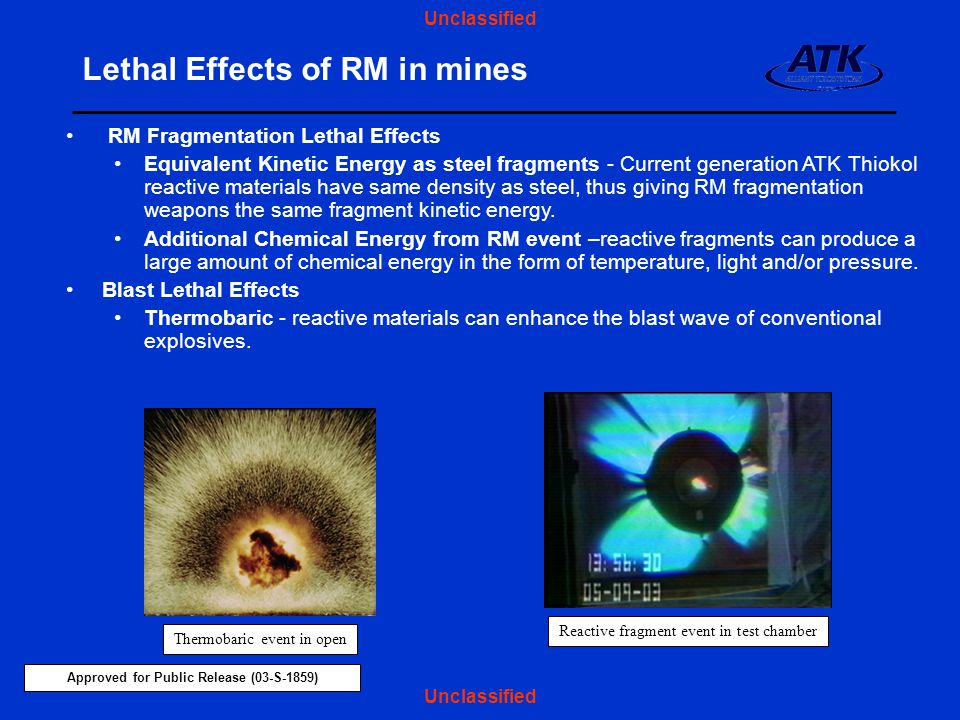 Lethal Effects of RM in mines