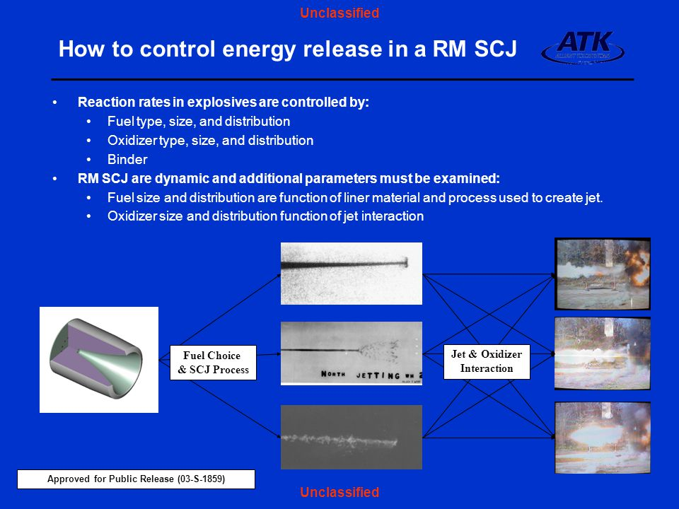 How to control energy release in a RM SCJ