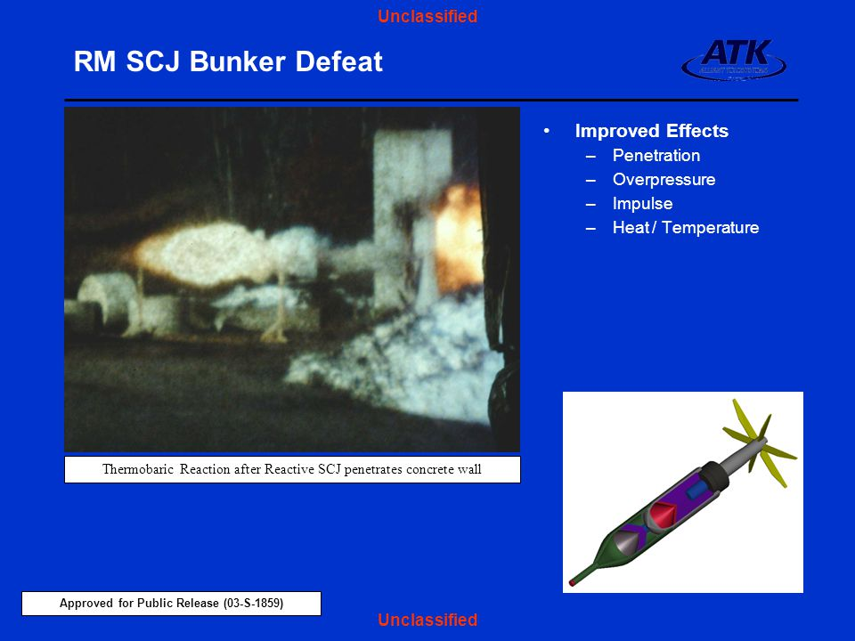 Thermobaric Reaction after Reactive SCJ penetrates concrete wall