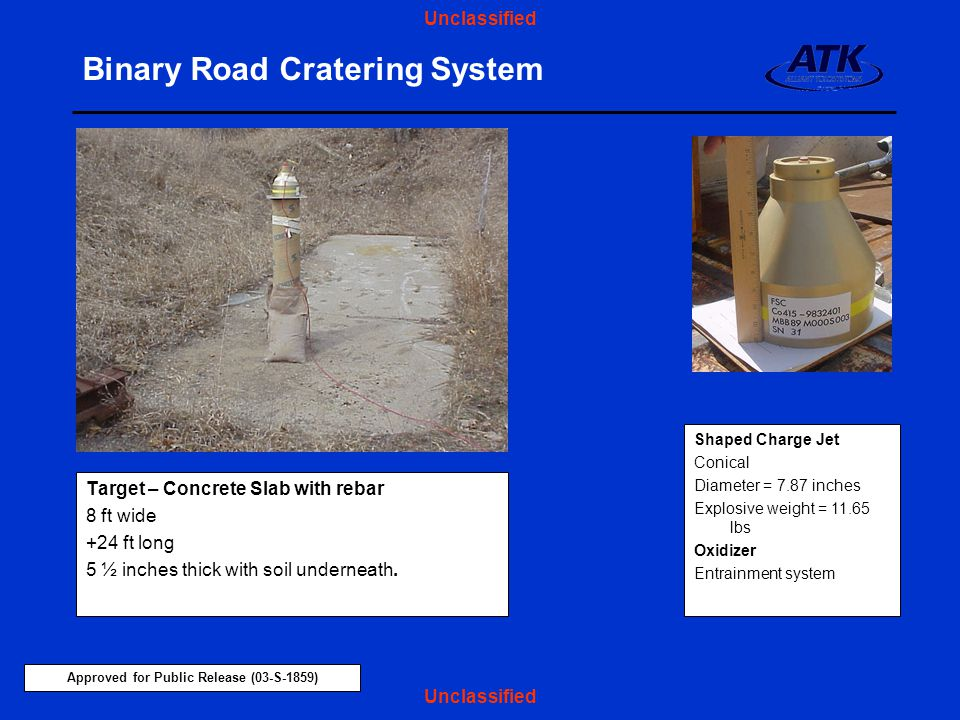 Binary Road Cratering System