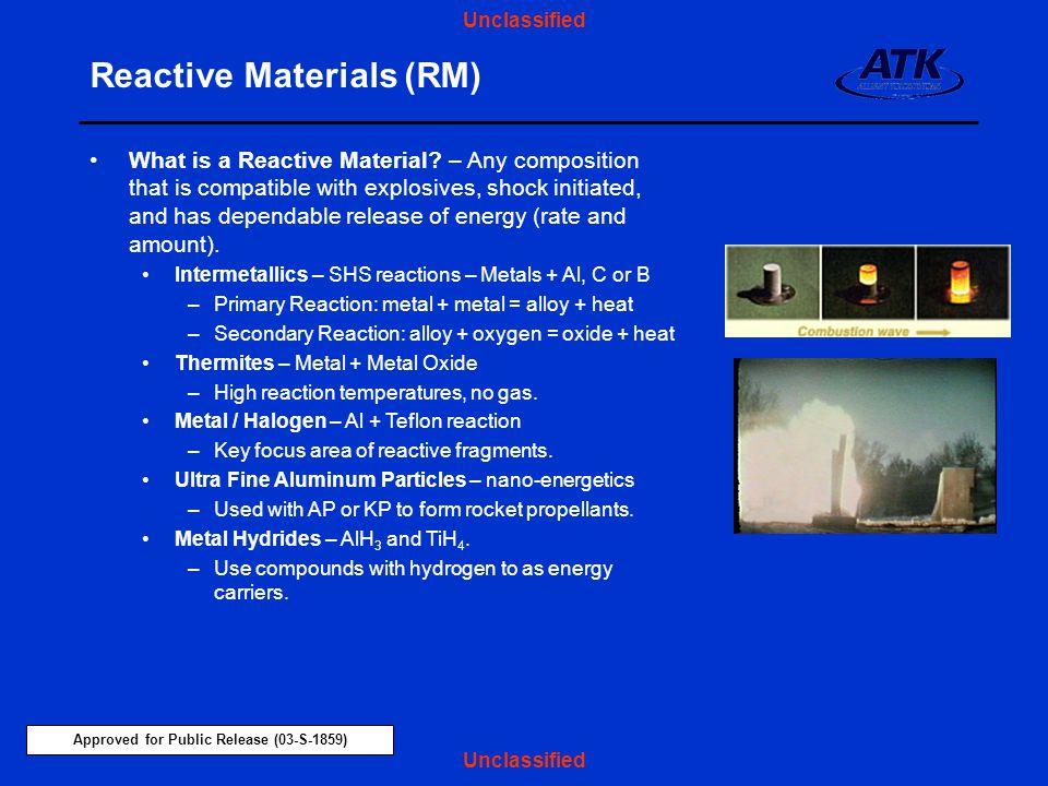Reactive Materials (RM)