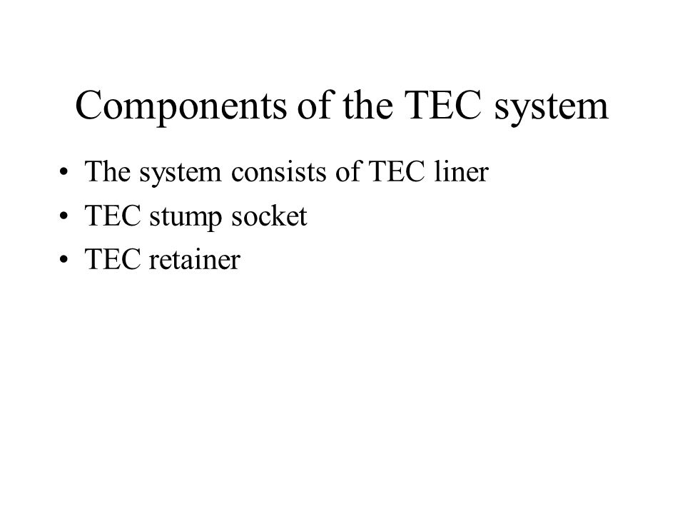 Components of the TEC system