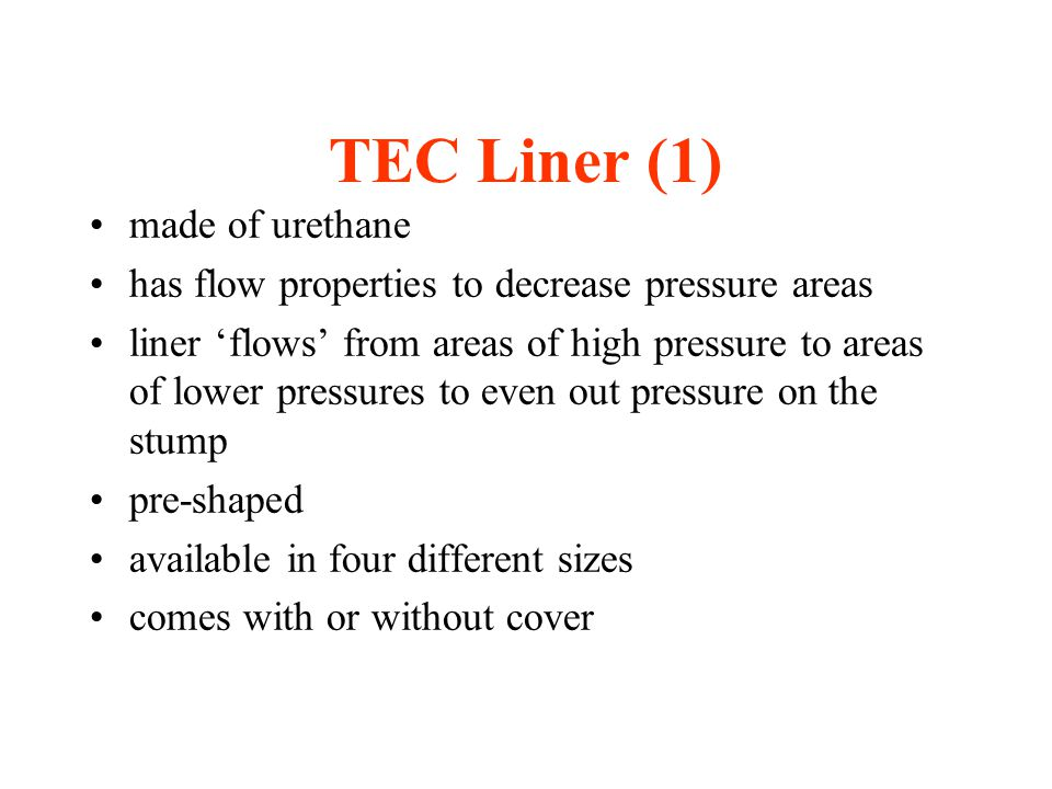 TEC Liner (1) made of urethane