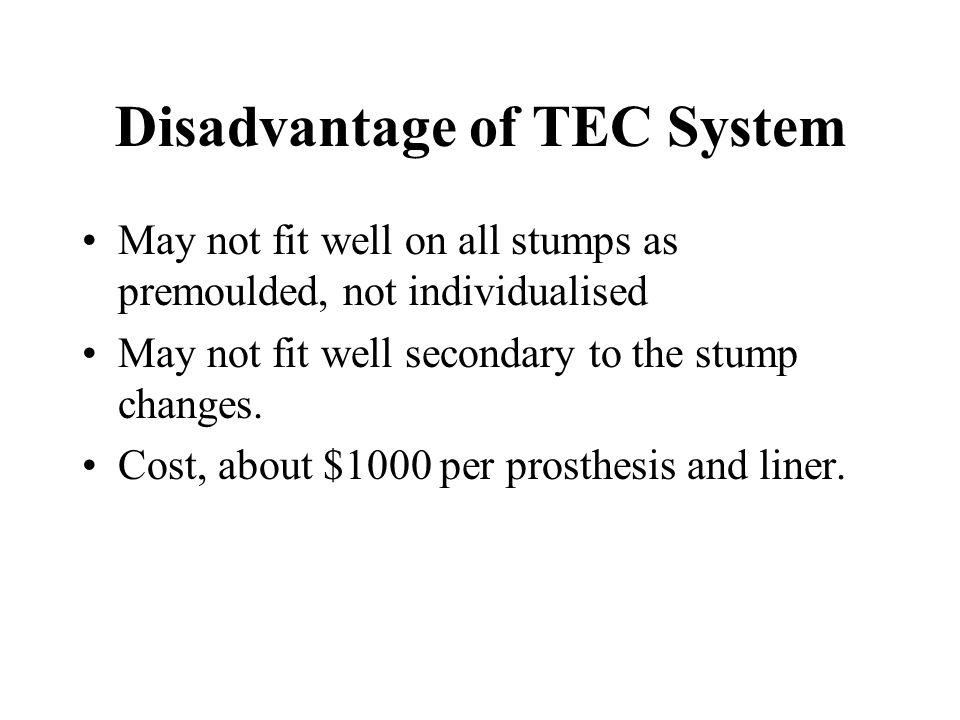 Disadvantage of TEC System