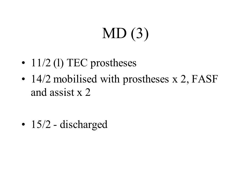 MD (3) 11/2 (l) TEC prostheses