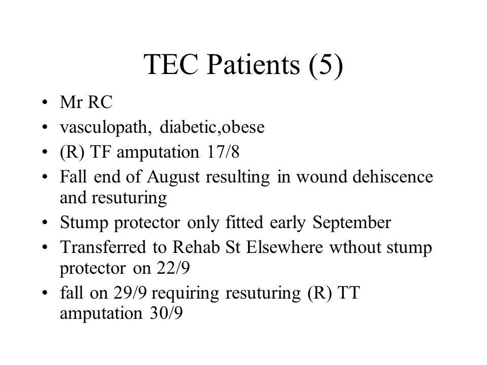 TEC Patients (5) Mr RC vasculopath, diabetic,obese