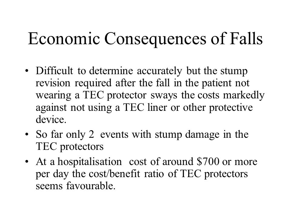 Economic Consequences of Falls