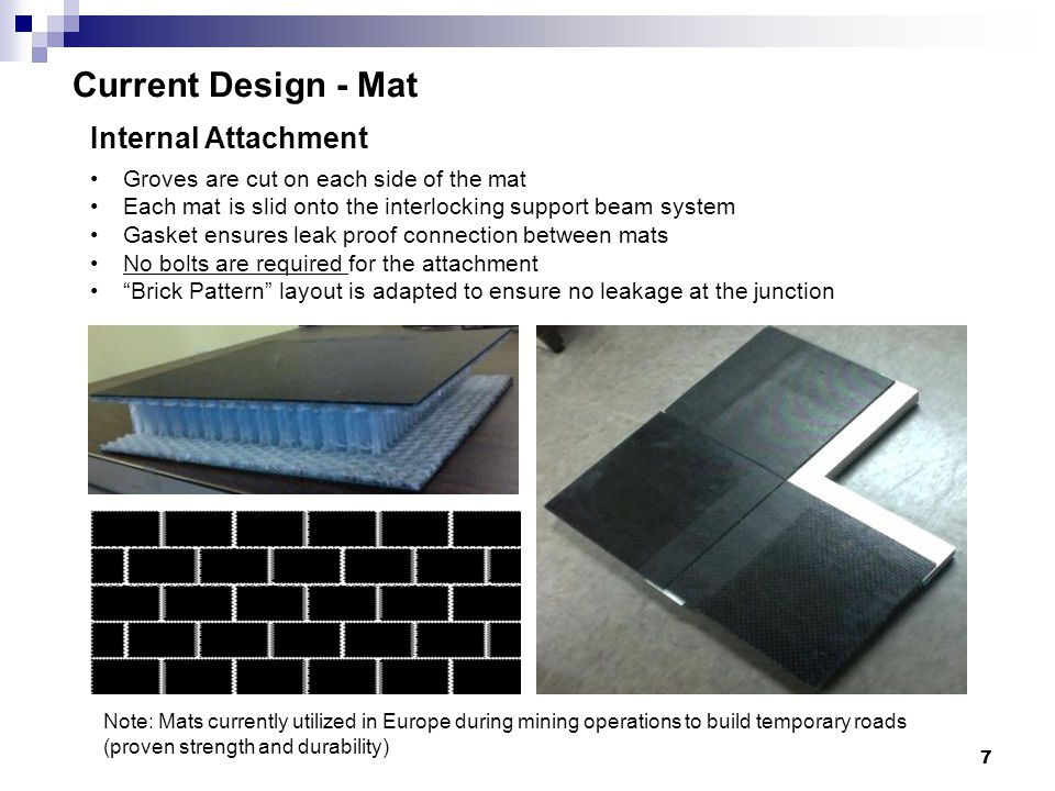 Current Design - Mat Internal Attachment