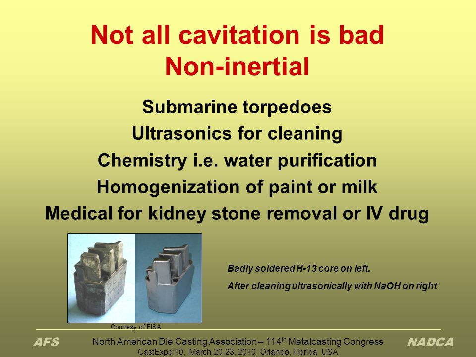 Not all cavitation is bad Non-inertial