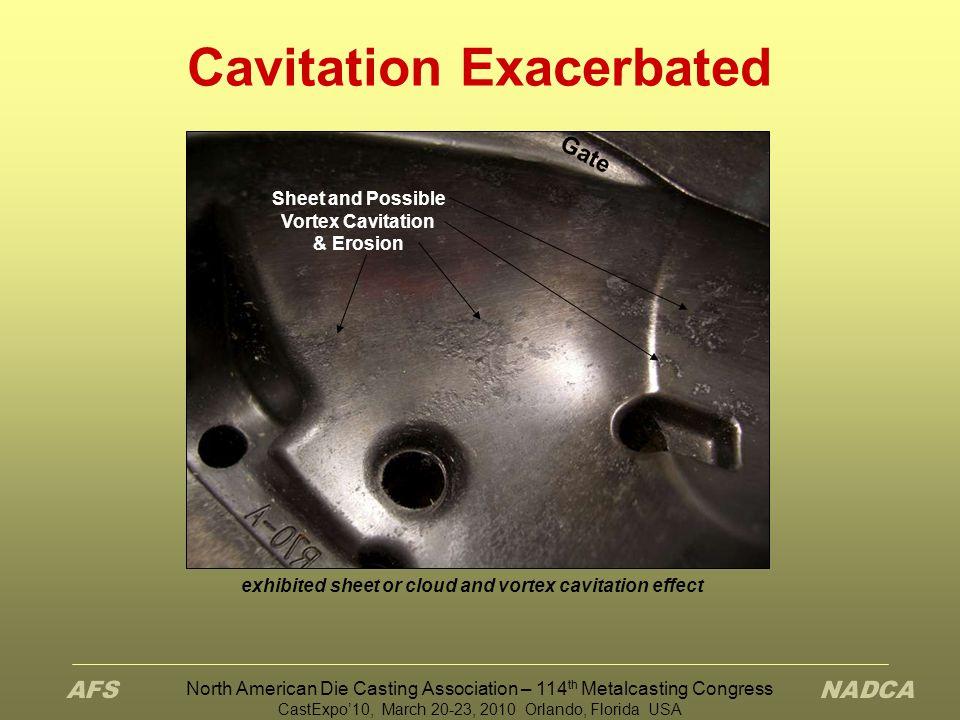 Cavitation Exacerbated