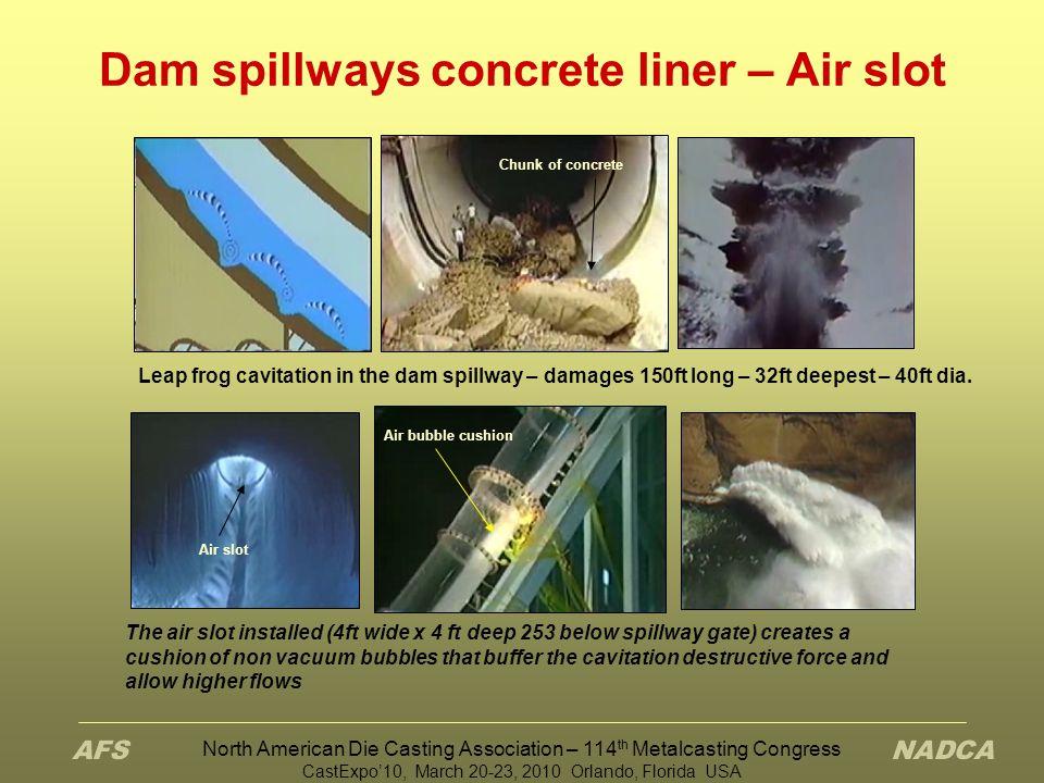 Dam spillways concrete liner – Air slot
