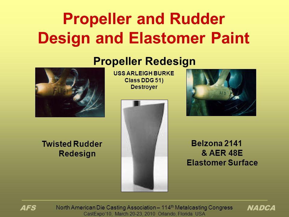 Propeller and Rudder Design and Elastomer Paint