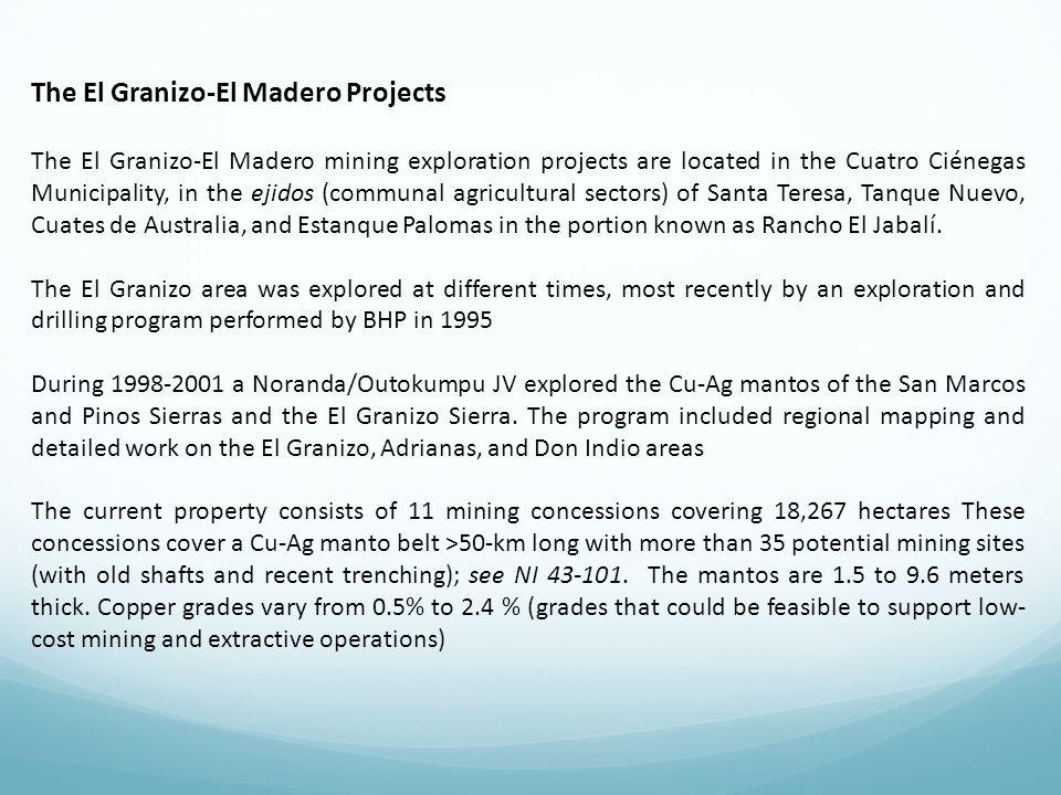 The El Granizo-El Madero Projects