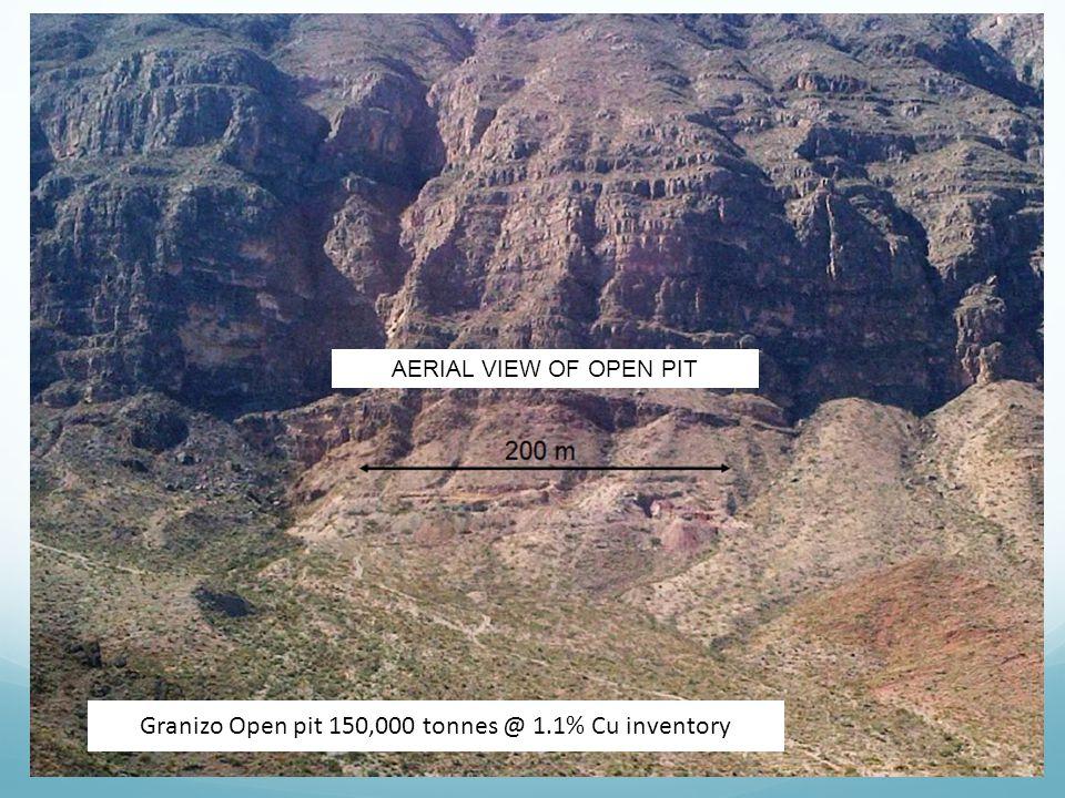 Granizo Open pit 150,000 tonnes @ 1.1% Cu inventory