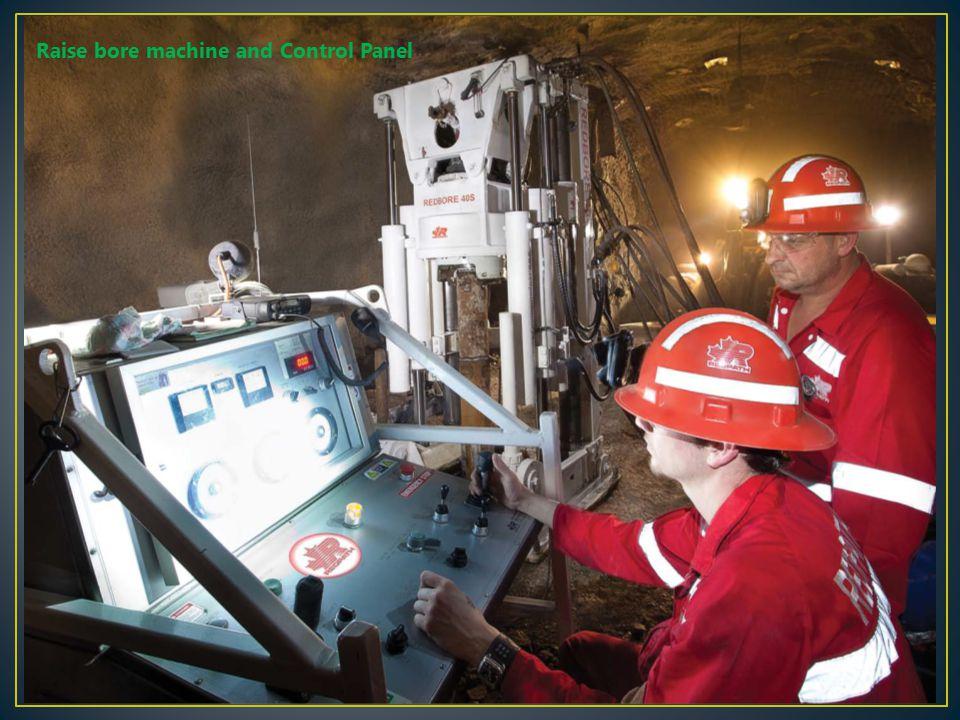 Raise bore machine and Control Panel