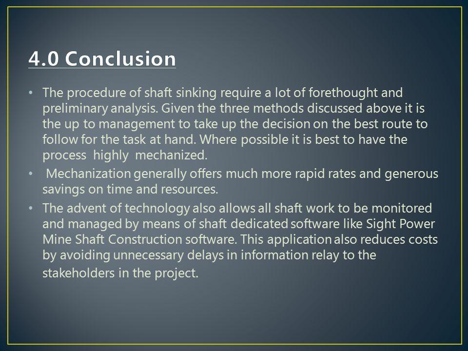 4.0 Conclusion