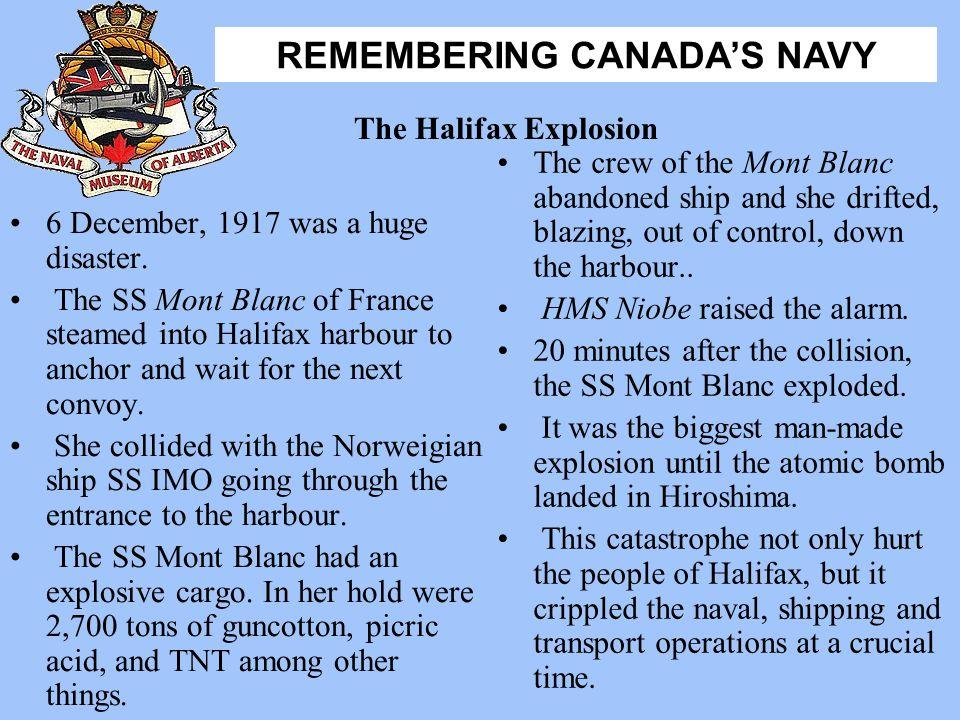 HMS Niobe raised the alarm.