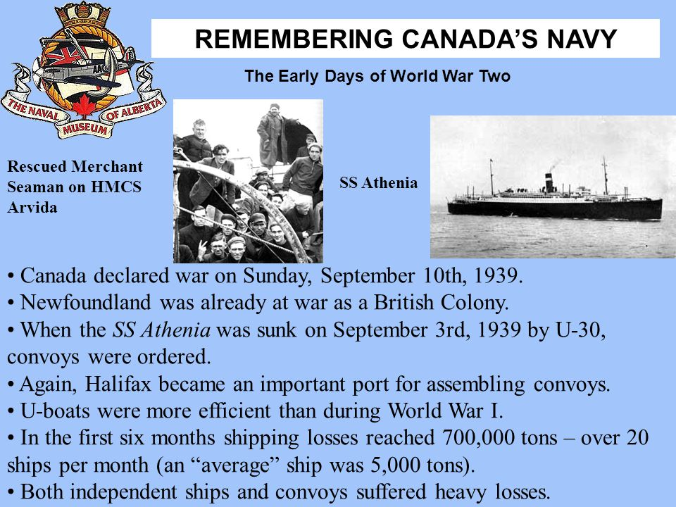 Canada declared war on Sunday, September 10th, 1939.