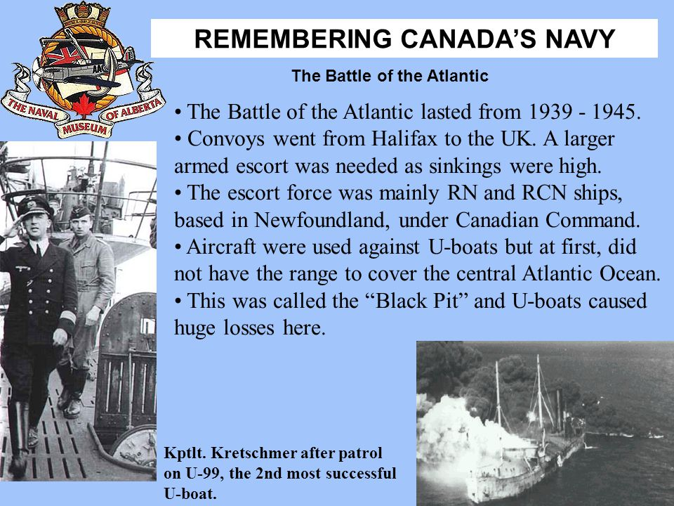 The Battle of the Atlantic lasted from 1939 - 1945.