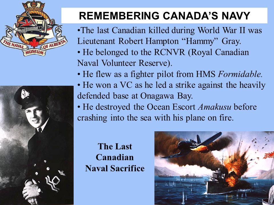 The Last Canadian Naval Sacrifice