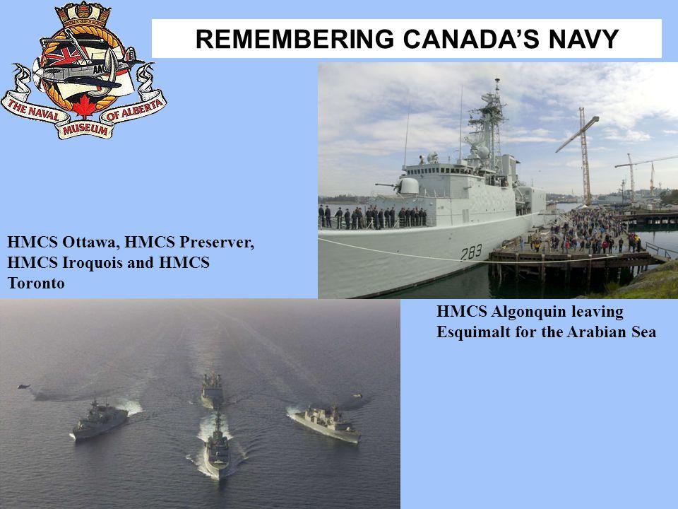 HMCS Ottawa, HMCS Preserver, HMCS Iroquois and HMCS Toronto