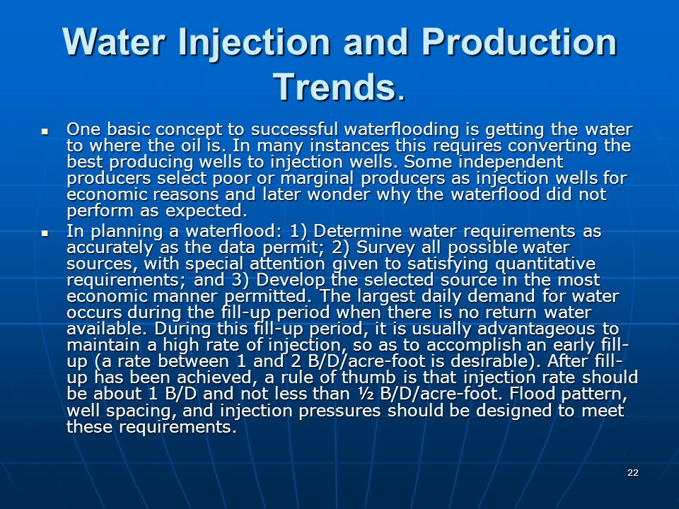 Water Injection and Production Trends.