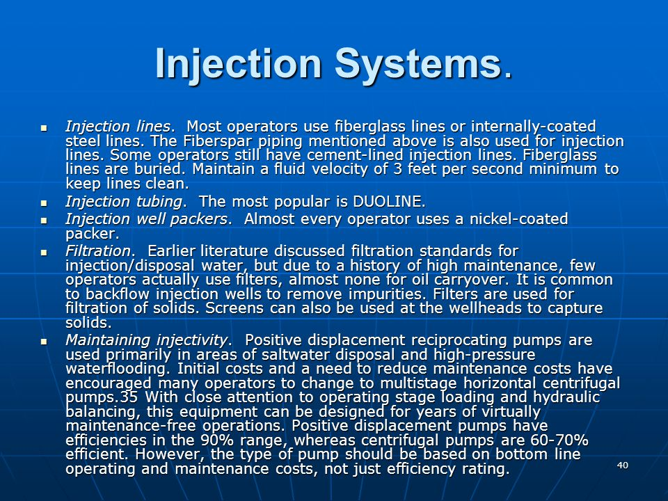Injection Systems.