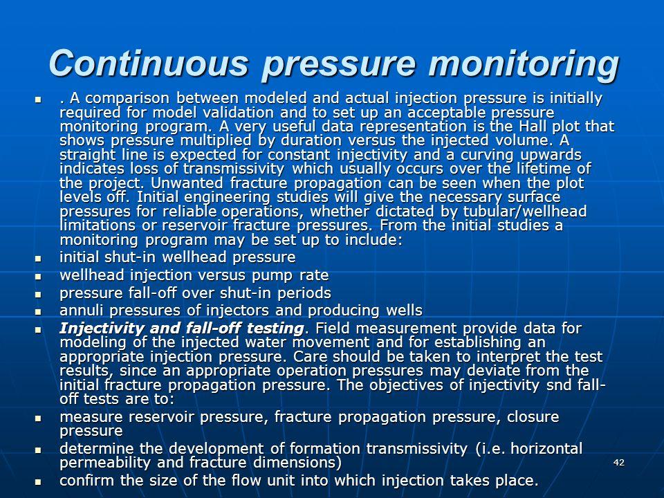 Continuous pressure monitoring