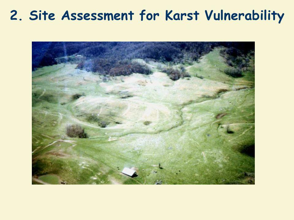 2. Site Assessment for Karst Vulnerability