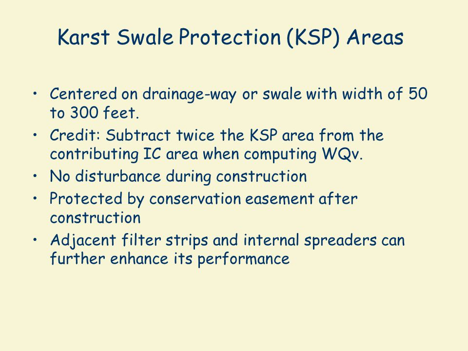 Karst Swale Protection (KSP) Areas