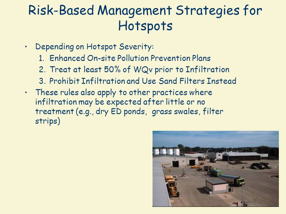 Risk-Based Management Strategies for Hotspots