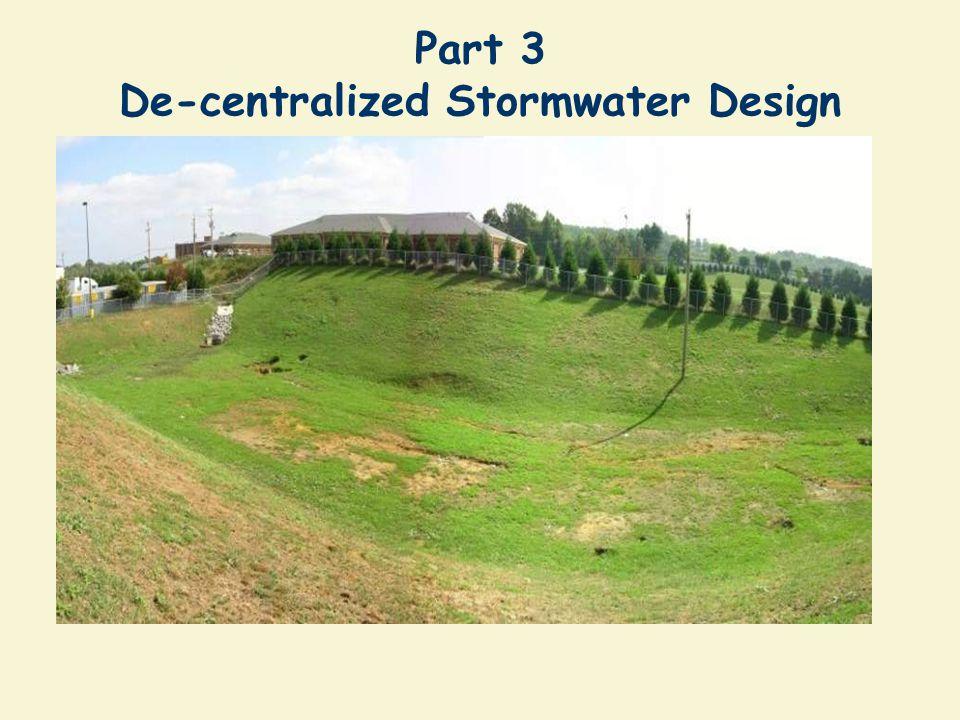 Part 3 De-centralized Stormwater Design