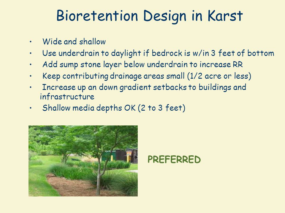Bioretention Design in Karst