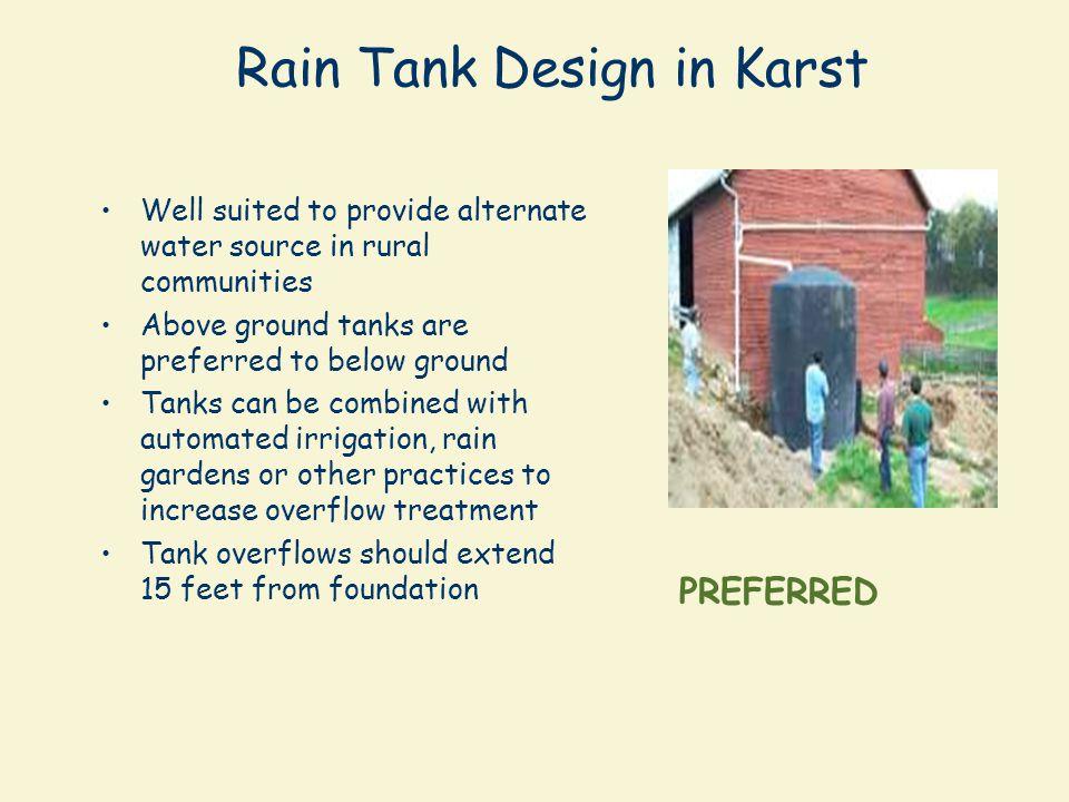 Rain Tank Design in Karst