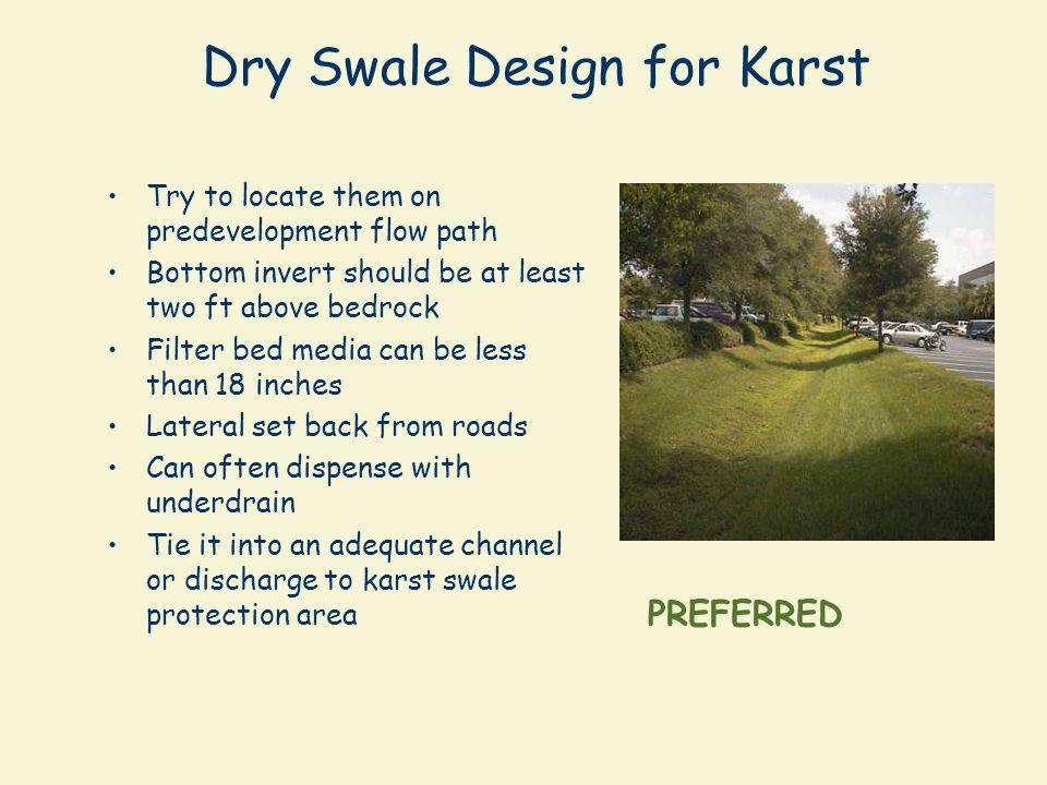 Dry Swale Design for Karst