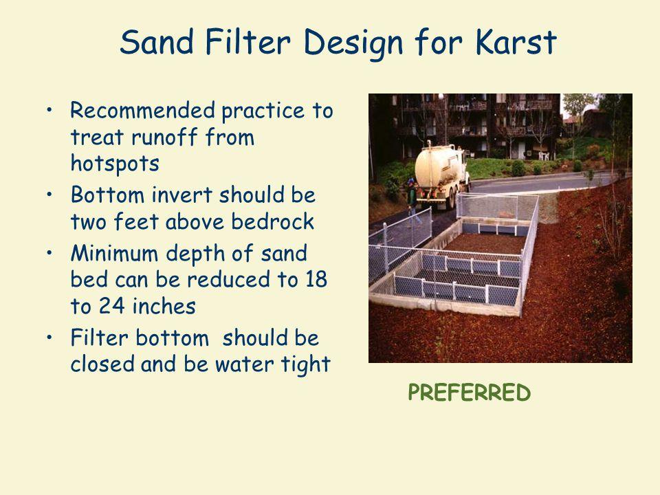 Sand Filter Design for Karst