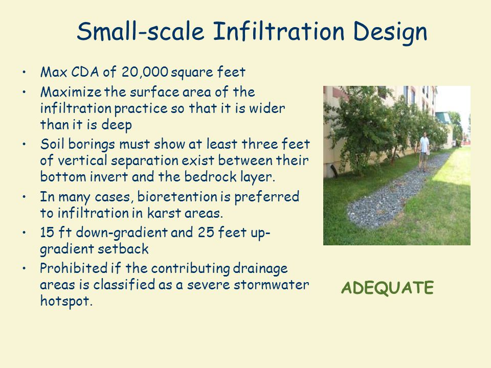 Small-scale Infiltration Design