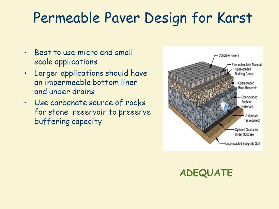 Permeable Paver Design for Karst
