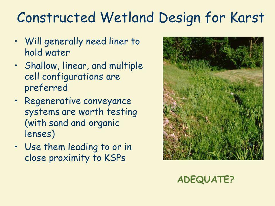 Constructed Wetland Design for Karst