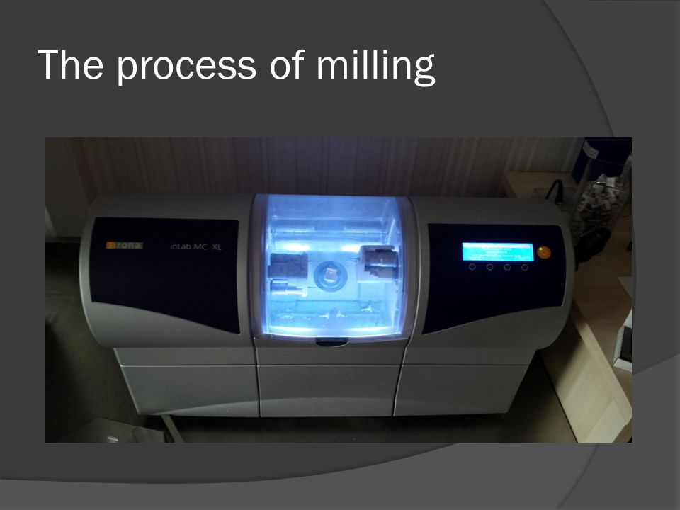 The process of milling