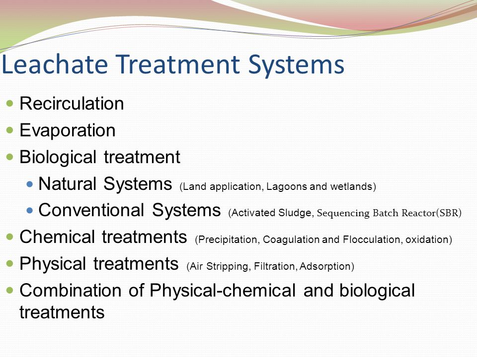 Leachate Treatment Systems