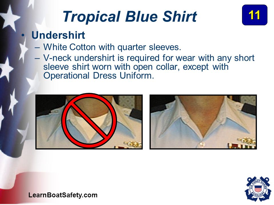 Tropical Blue Shirt 11 Undershirt White Cotton with quarter sleeves.