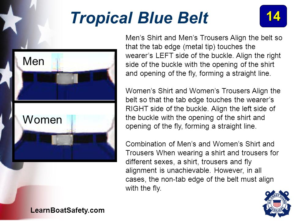 Tropical Blue Belt 14 Men Women
