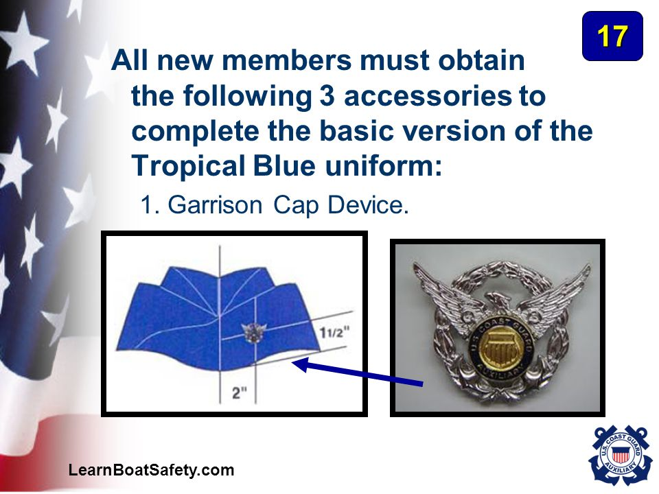 17 All new members must obtain the following 3 accessories to complete the basic version of the Tropical Blue uniform: