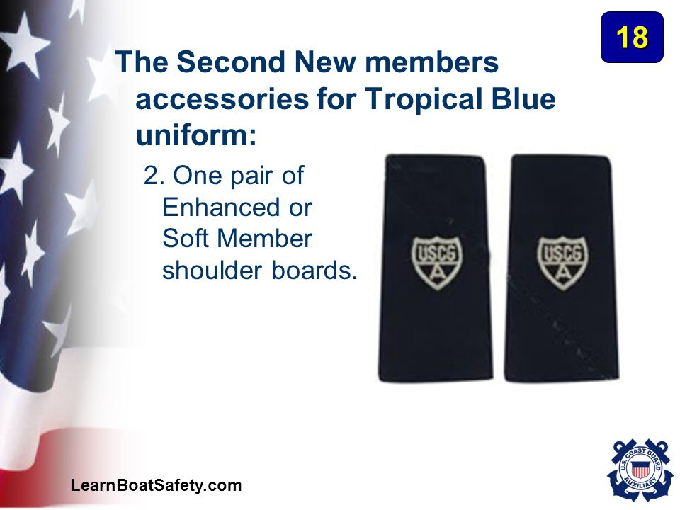 The Second New members accessories for Tropical Blue uniform: