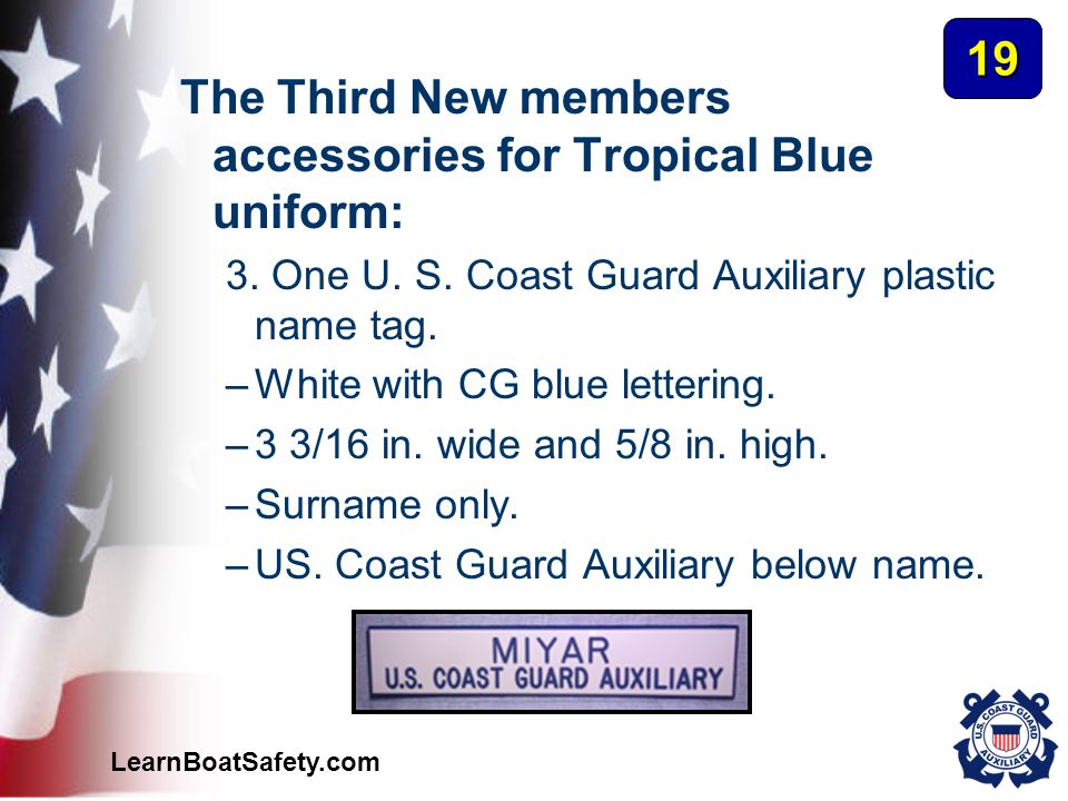 The Third New members accessories for Tropical Blue uniform: