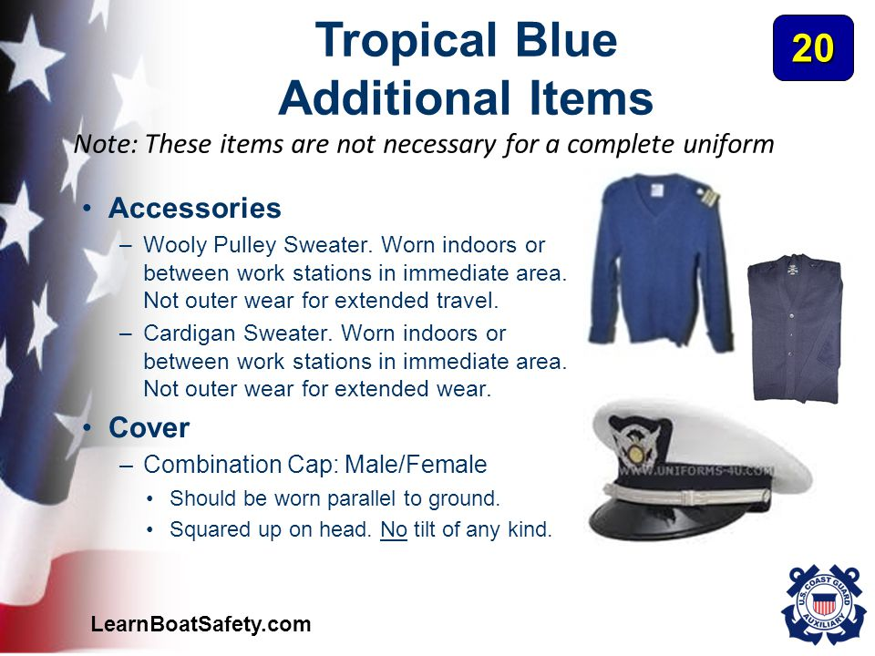 Tropical Blue Additional Items