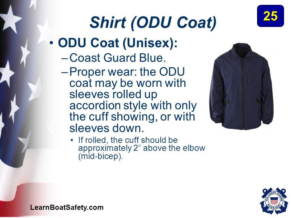 Shirt (ODU Coat) 25 ODU Coat (Unisex): Coast Guard Blue.