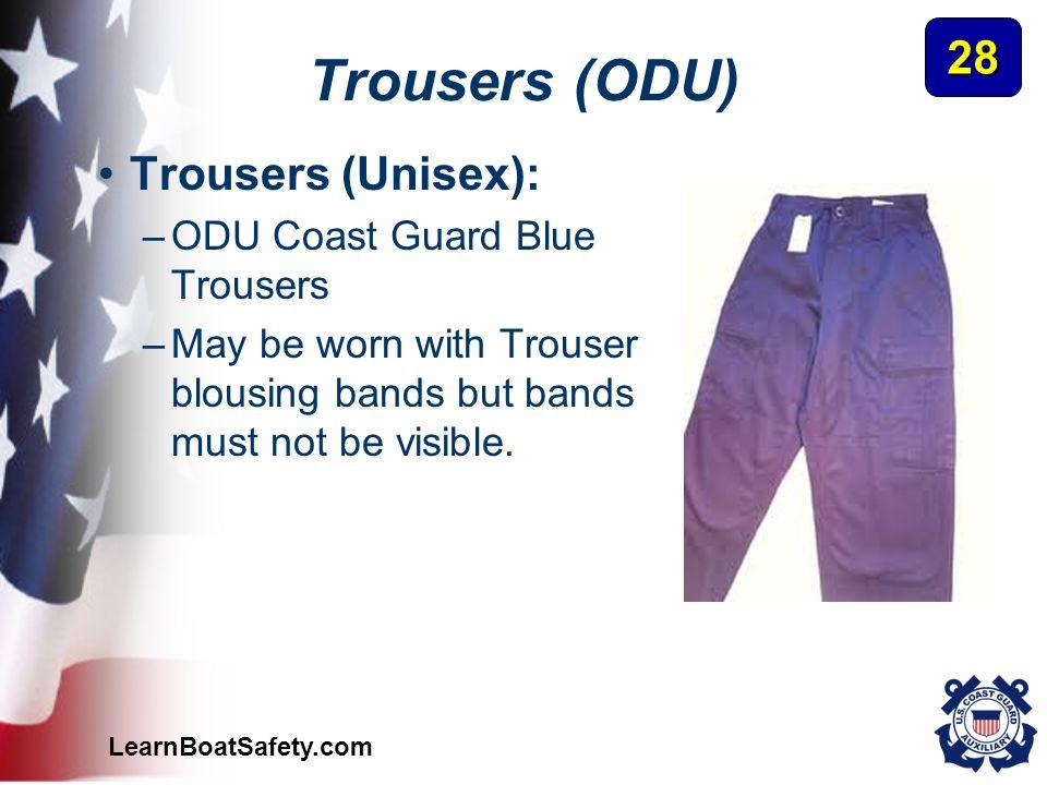 Trousers (ODU) 28 Trousers (Unisex): ODU Coast Guard Blue Trousers