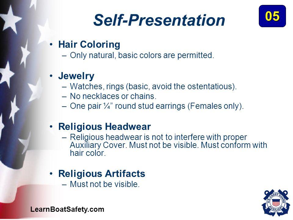 Self-Presentation 05 Hair Coloring Jewelry Religious Headwear